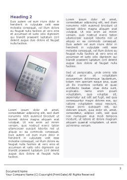 Discount Word Template, Second Inner Page, 02004, Financial/Accounting — PoweredTemplate.com