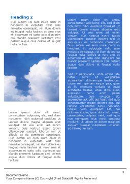 Cloudy Sky Word Template Second Inner Page