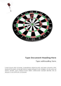 Darts And Target Word Template, Cover Page, 02007, 3D — PoweredTemplate.com