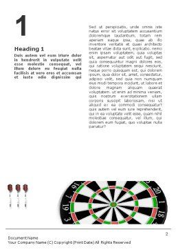 Darts And Target Word Template, First Inner Page, 02007, 3D — PoweredTemplate.com