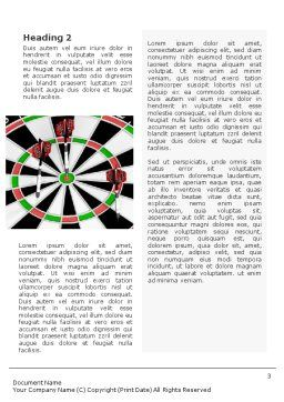Darts And Target Word Template, Second Inner Page, 02007, 3D — PoweredTemplate.com