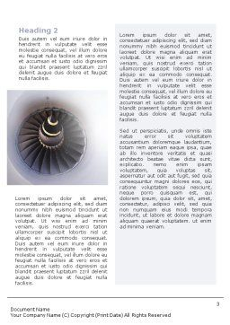 Turbojet Engine Word Template, Second Inner Page, 02008, Construction — PoweredTemplate.com