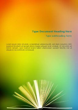 Book Word Template, Cover Page, 02010, Education & Training — PoweredTemplate.com