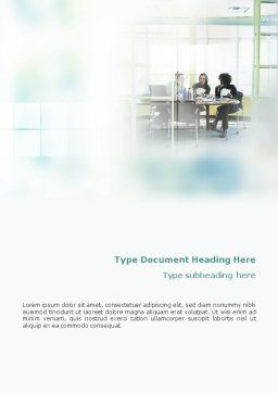 Office Meeting Word Template, Cover Page, 02012, Consulting — PoweredTemplate.com