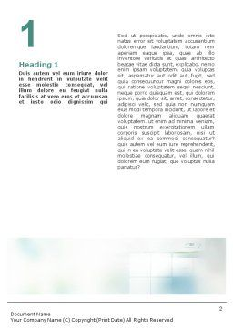 Office Meeting Word Template, First Inner Page, 02012, Consulting — PoweredTemplate.com