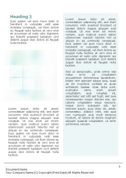 Office Meeting Word Template, Second Inner Page, 02012, Consulting — PoweredTemplate.com