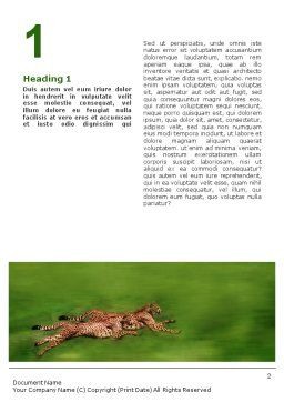 Wild Life Word Template First Inner Page