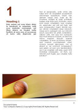 Before Basketball Game Word Template, First Inner Page, 02016, Sports — PoweredTemplate.com