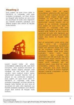 Oil Well Word Template, Second Inner Page, 02018, Utilities/Industrial — PoweredTemplate.com