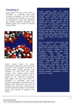 Molecular Modeling Word Template, Second Inner Page, 02019, Technology, Science & Computers — PoweredTemplate.com