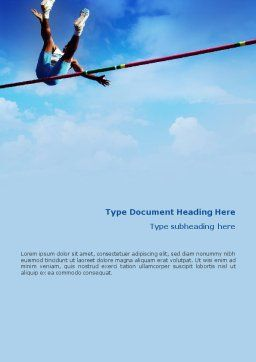 High Jump Word Template, Cover Page, 02020, Sports — PoweredTemplate.com