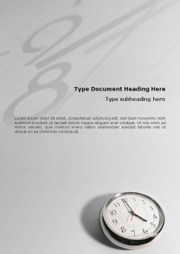 Five O'clock Word Template, Cover Page, 02024, Consulting — PoweredTemplate.com