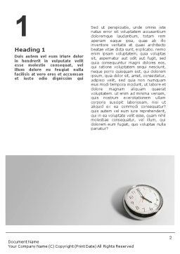 Five O'clock Word Template, First Inner Page, 02024, Consulting — PoweredTemplate.com