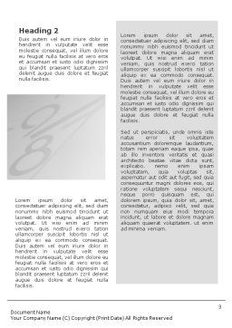 Five O'clock Word Template, Second Inner Page, 02024, Consulting — PoweredTemplate.com