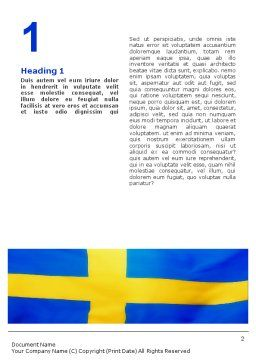 Swedish Flag Word Template First Inner Page