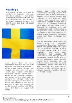 Swedish Flag Word Template Second Inner Page
