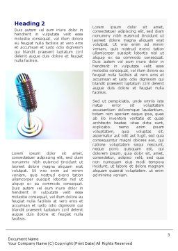 Microphone Word Template, Second Inner Page, 02027, 3D — PoweredTemplate.com