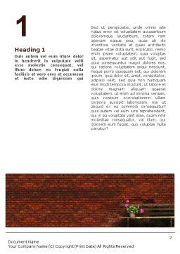Brick Wall Word Template, First Inner Page, 02029, General — PoweredTemplate.com