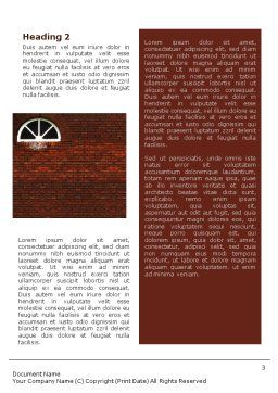 Brick Wall Word Template, Second Inner Page, 02029, General — PoweredTemplate.com