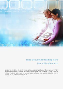 Project Management Word Template, Cover Page, 02034, Education & Training — PoweredTemplate.com