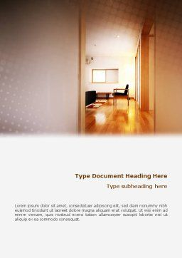 Apartment Design Word Template, Cover Page, 02035, Careers/Industry — PoweredTemplate.com