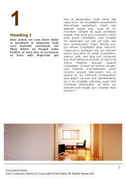 Apartment Design Word Template, First Inner Page, 02035, Careers/Industry — PoweredTemplate.com