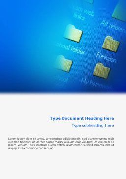 File Folder Word Template Cover Page