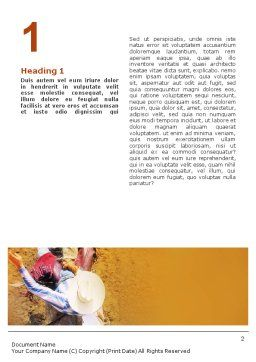 Rodeo On A Wild Mustang Word Template, First Inner Page, 02044, Sports — PoweredTemplate.com
