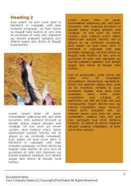 Rodeo On A Wild Mustang Word Template, Second Inner Page, 02044, Sports — PoweredTemplate.com