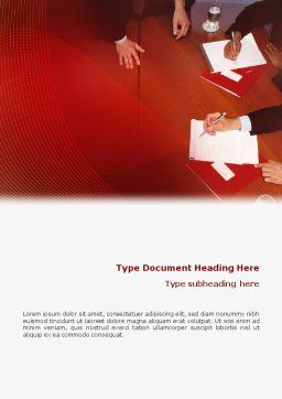 Briefing Word Template, Cover Page, 02048, Business — PoweredTemplate.com