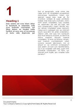 Briefing Word Template, First Inner Page, 02048, Business — PoweredTemplate.com