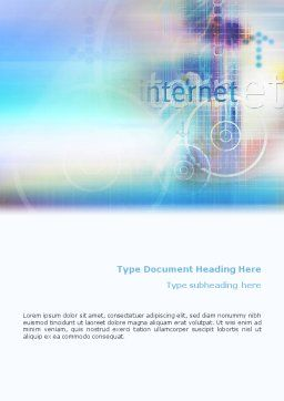 Internet Space Word Template, Cover Page, 02053, Abstract/Textures — PoweredTemplate.com