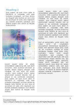 Internet Space Word Template, Second Inner Page, 02053, Abstract/Textures — PoweredTemplate.com