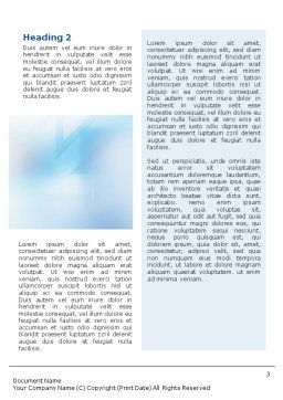 Teamwork Meeting Word Template Second Inner Page