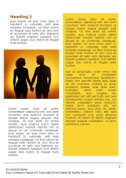 Couple Walking To Sunset Word Template Second Inner Page