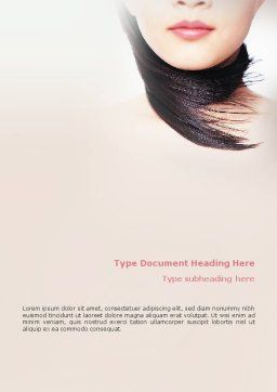 Beauty Word Template, Cover Page, 02061, Careers/Industry — PoweredTemplate.com