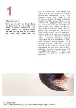 Beauty Word Template, First Inner Page, 02061, Careers/Industry — PoweredTemplate.com