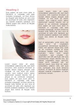 Beauty Word Template, Second Inner Page, 02061, Careers/Industry — PoweredTemplate.com