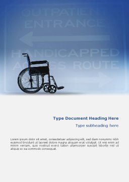 Handicapped Word Template, Cover Page, 02064, Medical — PoweredTemplate.com