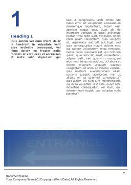 Handicapped Word Template, First Inner Page, 02064, Medical — PoweredTemplate.com