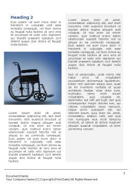 Handicapped Word Template, Second Inner Page, 02064, Medical — PoweredTemplate.com