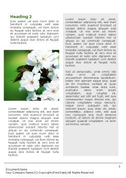 Blooming Cherry Tree In The Spring Word Template Second Inner Page