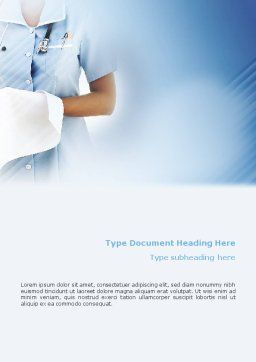 Nurse Word Template, Cover Page, 02067, Medical — PoweredTemplate.com