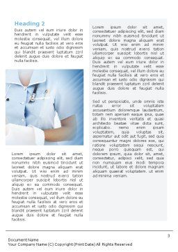 Nurse Word Template, Second Inner Page, 02067, Medical — PoweredTemplate.com