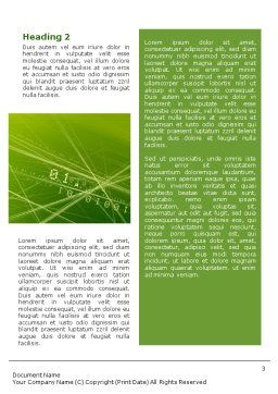 Binary Green Word Template Second Inner Page
