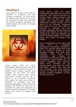 Biodegradable Word Template, Second Inner Page, 02073, Nature & Environment — PoweredTemplate.com