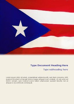 Flag of Puerto Rico Word Template Cover Page