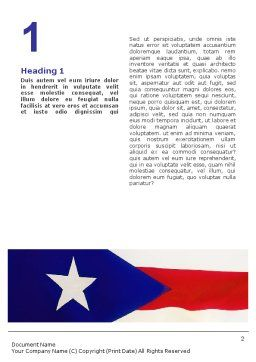 Flag of Puerto Rico Word Template First Inner Page