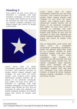 Flag of Puerto Rico Word Template Second Inner Page