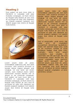 CD Disc Word Template Second Inner Page